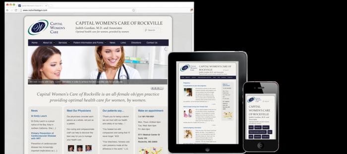 Capital Women's Care of Rockville Website Design