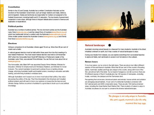 Embassy of Australia, Australian Education International Predeparture Guide 2009, Page Spread 2
