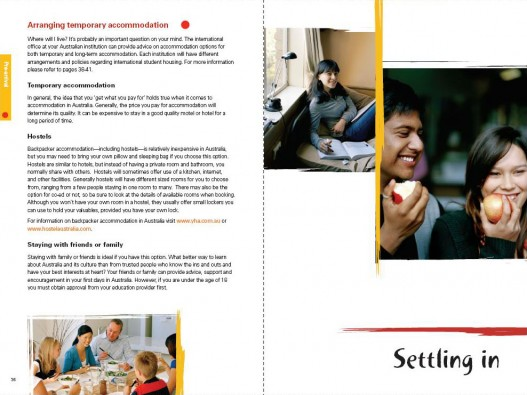 Embassy of Australia, Australian Education International Predeparture Guide 2009, Page Spread 3