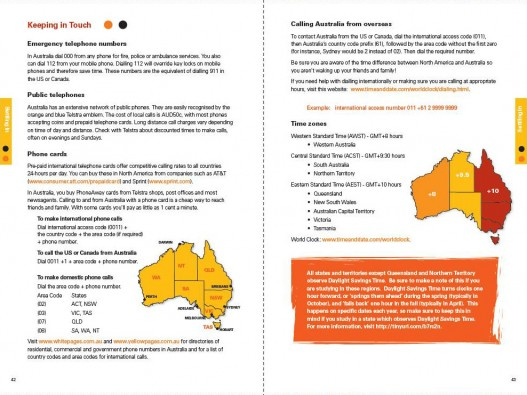 Embassy of Australia, Australian Education International Predeparture Guide 2009, Page Spread 4