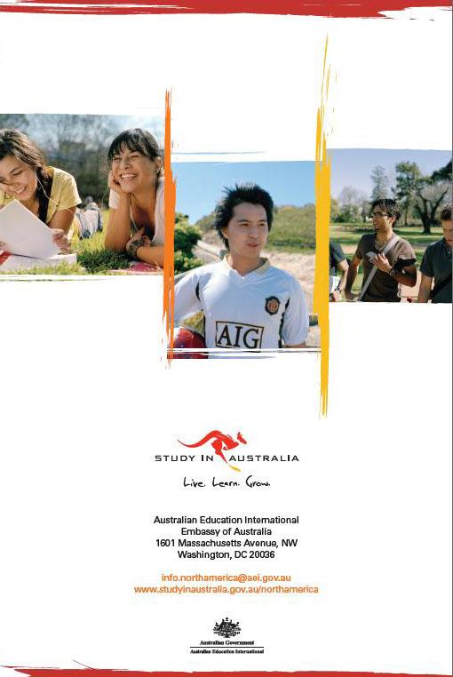 Embassy of Australia, Australian Education International Predeparture Guide 2009 Back Cover
