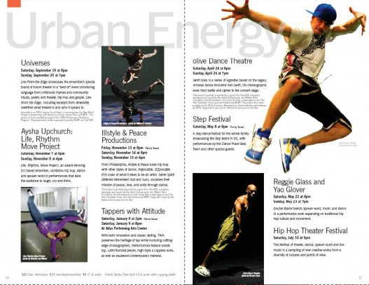 Dance Place Brochure page spread #2, Washington, DC