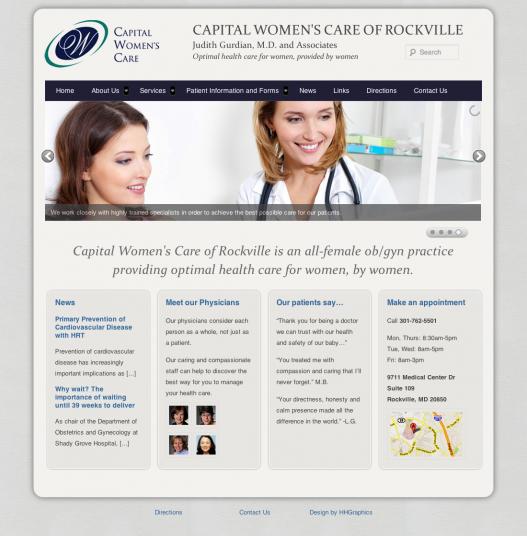 Capital Womens Care Responsive Website Design