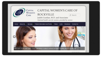 Capital Womens Care_Responsive Website Design: Mobile Portrait