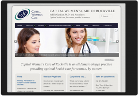 Capital Womens Care_Responsive Website Design: iPad and tablet