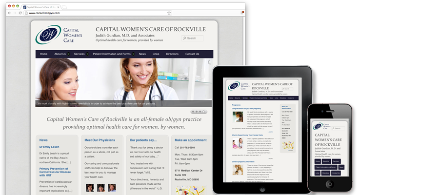 Capital Women's Care of Rockville Website design