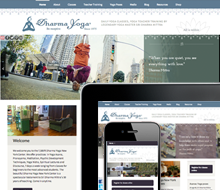 Dharma Yoga Center Website Design