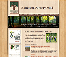 Hardwood Forestry Fund Website Design