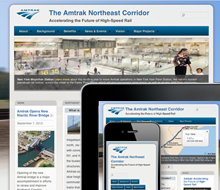 Website and Mobile Design for Amtrak High Speed Rail