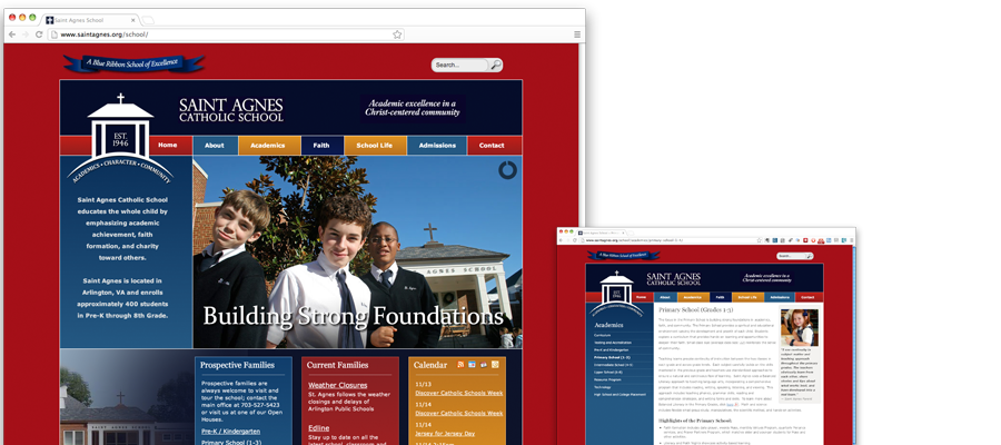 Saint Agnes School Website